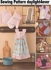 Kitchen Towel Dress Pot Holders Oven Mitts Simplicity Sewing Pattern 8109 New jj