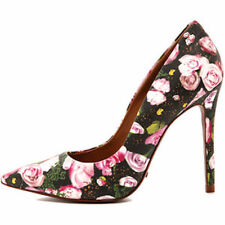 SCHUTZ Gilberta Rose Floral Bloom Mix Heels Pumps $199  NEW 8 8B