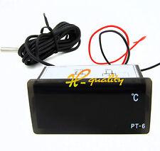 2 PC 12V -50 ℃ ~ + 110 ℃ Digitale Termometro Temperatura Misuratore Acquario + SENSORE
