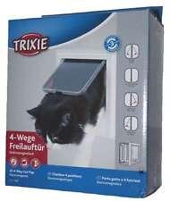 Trixie 3869 4-Wege Freilauftür, elektromagnetisch, weiß