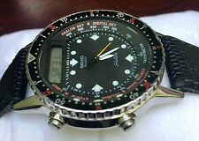 Seiko Silverwave analog digital chronograph watch tachymeter