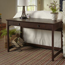 NEW Writing Desk Cherry Wood Office Furniture Rustic Drawer Table Workstation