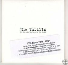 (A1000) The Thrills, Not For All The Love In The- DJ CD