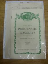 30/07/1947 Music/Concert Programme: Royal Albert Hall - Henry Wood Promenade Con