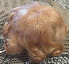 """15"""" Ash Blond Pure Mohair Wig """"Marissa"""" for Antique Bisque Baby Doll"""