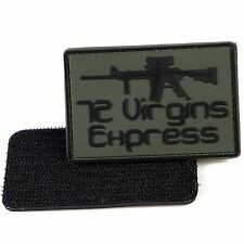 PVC Morale Patch 72 Virgin Express 3D Badge Hook #26 Paintball Airsoft