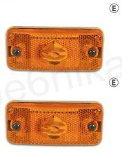 2x Orange Side Marker Lights Amber Lamp for FIAT DUCATO (MAXI) 2009  E Marked