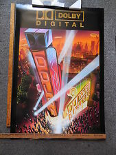 Original Dolby Digital Cinema Theater Deco Hollywood Poster Double D Symbol Side