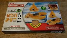 Real Construction Action Set: Boats - 64 Pieces