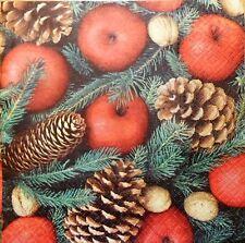 4 X Solo Papel Servilletas Decoupage elaboración de decoración de Navidad -65