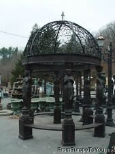 CAST IRON VICTORIAN STYLE 10'  FIGURAL GARDEN INDOOR - OUTDOOR  GAZEBO #6