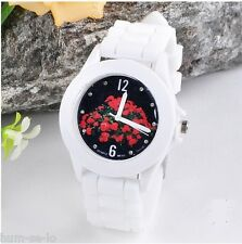 SILICON WHITE COLOR STRAP WOMEN WRISTWATCH -DIAL-II