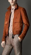 Men's Burberry London Cadmium Red Leather Rushden Jacket 40 US New $5500