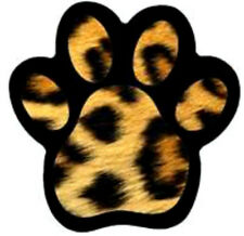 20  WATER SLIDE NAIL ART  DECAL TRANSFERS LEOPARD PRINT PAW PRINT