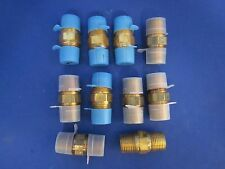 "Parker Brass Hex Nipple, 1/2"" Male NPT x 1/2"" Male NPT , Lot of 10 NEW"