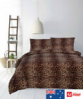 Quilt Cover Set - Leopard Micromink Animal Prints Bedding- apartmento QUEEN KING