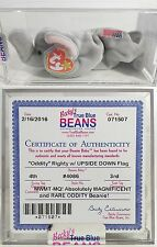 "RARE ODDITY! ""RIGHTY (UPSIDE DOWN FLAG!)"" AUTHENTICATED Ty Beanie Babies! MWMTs!"