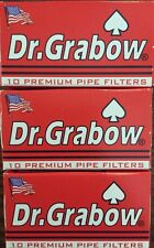 3 Boxes Dr. Grabow Premium Pipe Filters - NEW IN BOX 30 Count 2 1/4""
