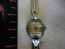 Vintage Elgin Starlite Wind Up Ladies Watch -DOESN'T WORK,MISSING A HAND