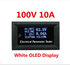 Multifuctional OLED Power Meter Volt Amp Time Power Energy Capacity Temp. Tester