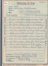 K1000) Kriegsgefangenenpost Brf Neapel 8.11.45 nach Hannover