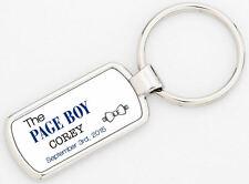 Personalizzato Page Boy Nome & Data Portachiavi Matrimonio Grazie Ricordo