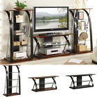 MODERN Futuristic Brown Black Entertainment Center TV Stand Console Media Shelf
