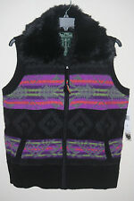 NWT~RALPH LAUREN PLUS~FAIR ISLE FUR TRIM SWEATER VEST~SIZE 2X~NEW~$169