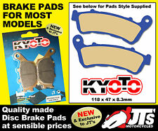 FRONT SET DISC BRAKE PADS SUIT HONDA NC700 D Integra Scooter (12) PATTERN