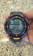 Casio Pathfinder Pag-40 Alti Baro Thermo Compass Triple Sensor Mens Watch Mint!!