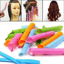 18PCS Hair Curlers Twist Spiral Circle Curlformers Magic Rollers Styling Tool