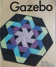 """Gazebo - fun pieced table topper PATTERN uses 2.5"""" strips - Jaybird Quilts"""