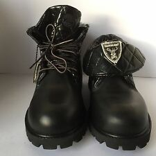 Timberland Roll Tops Black Leather Boots Girls,Womens Size 5.5 UK New £37.99