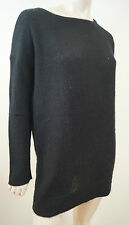 JAMES PERSE LOS ANGELES Black 100% Cashmere Loose Knit Jumper Sweater  Sz:3; L