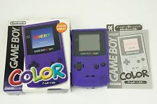 Nintendo Gameboy Color Purple Console GBC Box Japan USED
