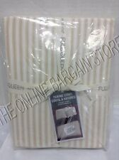 Pottery Barn West Elm Ticking Stripe Bed Duvet Cover Full Queen FQ Horseradish