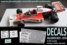 Lendas Brasileiras F1 McLAREN M23 1974 Marlboro decals 1:43 scale Panini IXO
