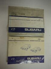 1985 Subaru Owner's Manual with Case and Extras