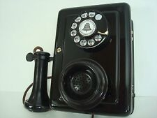 Original Antique working 1920 Western Electric wall telephone 553 A candlestick