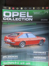 FASCICULE ALLEMAND 72  OPEL COLLECTION  MANTA B CC 1978-1988