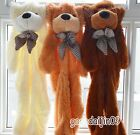 MultiColor Lovely Baby Bear Skin Soft Cotton Animal Plush Huge Bear Shell Gift