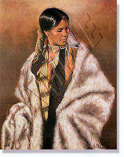"""""""BIA-WA-JA-CHES(WOMAN CHIEF)"""" LIMITED EDITION PRINT BY PENNI ANNE CROSS"""