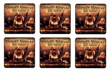 "THE DEVILS REJECTS COASTERS 1/4"" BAR & BEER SET OF 6"