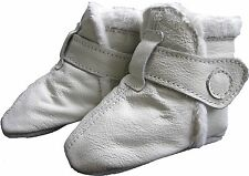 carozoo booties white 0-6m soft sole leather baby shoes