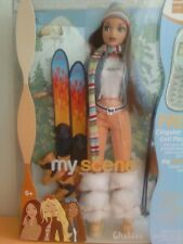 My Scene Chillin Out Chelsea Barbie Doll Brown Hair Brown Eyes Skis Boots New