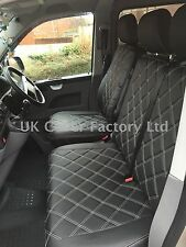 VW TRANSPORTER T4 VAN SEAT COVERS FULL CREAM BENTLEY STITCH 151BK-CM