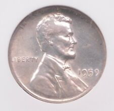 Ngc 1c 1959 Lincoln Cent on Silver Dime Planchet Au-58