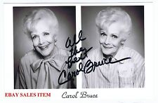 CAROL BRUCE   Broadway TV Film Star Actress  and SINGER    HAND SIGNED B/W Photo