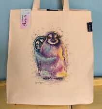 Large Shopping Tote Bag Penguins Print By Contemporary Artist Sophie Appleton