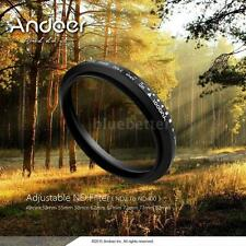 Andoer 77mm ND Fader Adjustable ND2 to ND400 Variable Filter for DSLR G2F6
